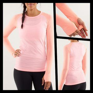 RARE Lululemon Run Swiftly Tech Long Sleeve Pink 4